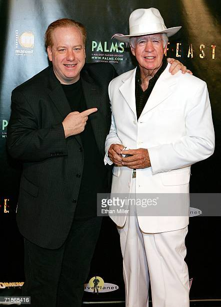 Director and Project Greenlight winner John Gulager and his father actor Clu Gulager arrive at the premiere of the movie Feast at the Palms Casino...