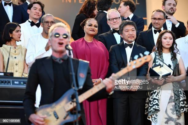 US director and screenwriter and member of the Feature Film Jury Ava DuVernay Japanese director Hirokazu KoreEda and Kazakh actress Samal Yeslyamova...