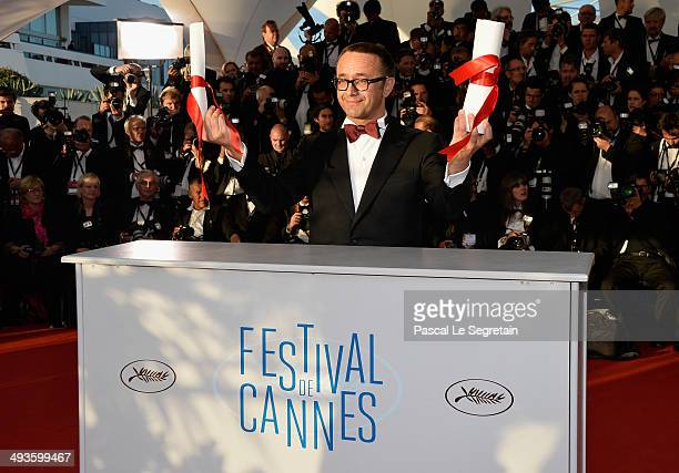 Director and screenwriter Andrei Zvyagintsev winner of the Best Screenplay for his film 'Leviathan' attends the Palme D'Or Winners photocall during...