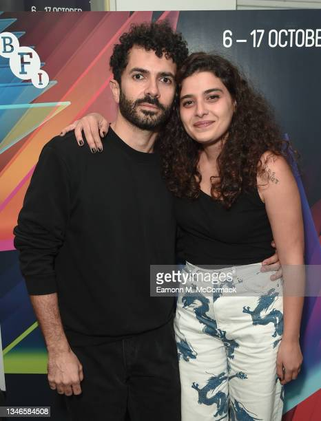 """Director and screenwriter Ely Dagher and Manal Issa attend """"The Sea Ahead"""" UK Premiere during the 65th BFI London Film Festival at the Institute Of..."""