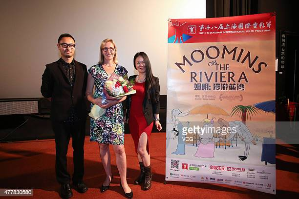 Director and screenwriter Hanna Hemila attends film 'Muumit Rivieralla' premiere as part of 18th Shanghai International Film Festival on June 19 2015...