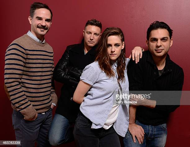 Director and screenwriter Peter Sattler actors Lane Garrison and Kristen Stewart and Peyman Moaadi pose for a portrait during the 2014 Sundance Film...