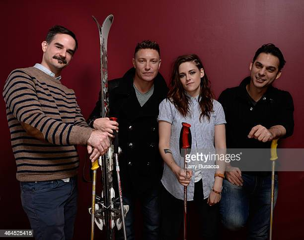 Director and screenwriter Peter Sattler actors Lane Garrison and Kristen Stewart and Payman Maadi pose for a portrait during the 2014 Sundance Film...