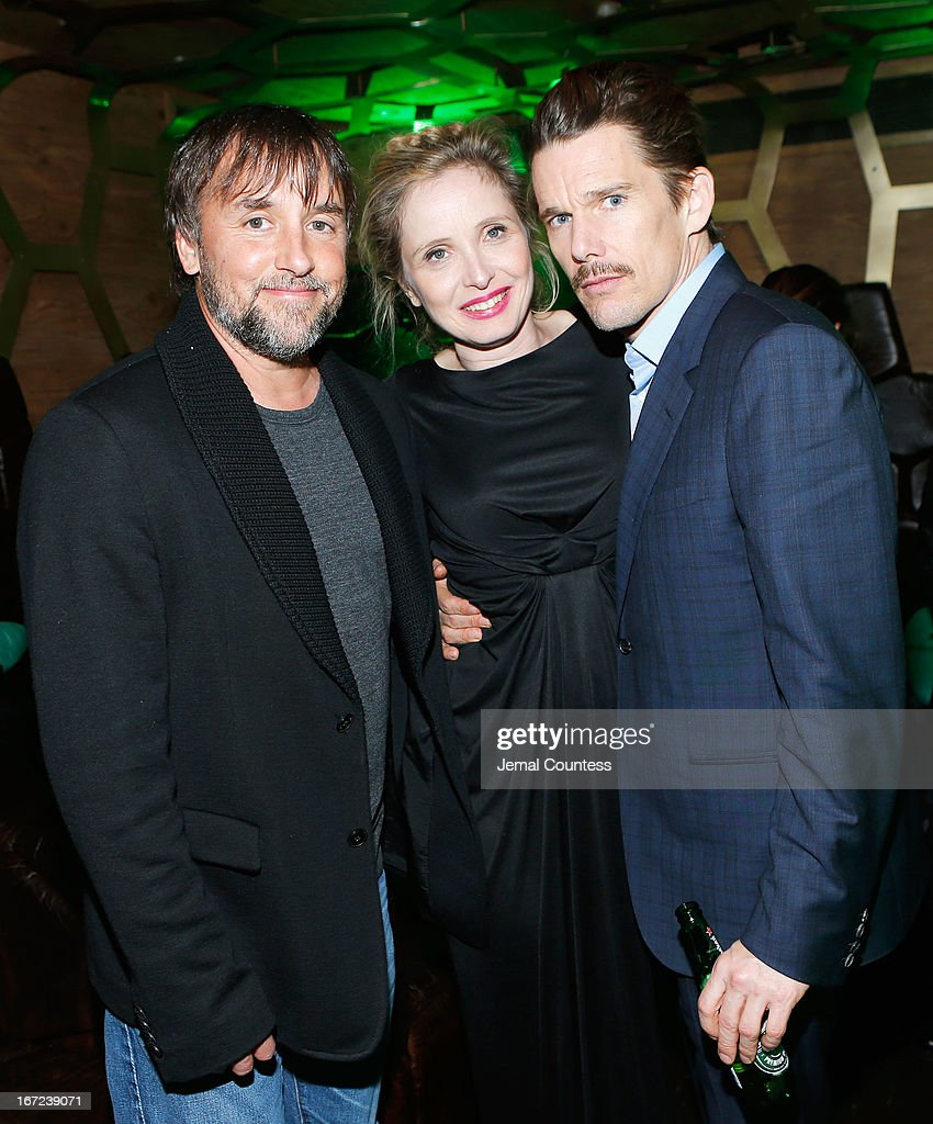 Director and screenwriter Richard Linklater, Julie Delpy and Ethan Hawke attend the Tribeca Film Festival 2013 After Party 'Before Midnight' sponsored by Heineken on April 22, 2013 in New York City.