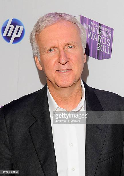 Director and technological innovator James Cameron attends the 2011 Popular Mechanics Breakthrough Awards at The Hearst Tower on October 10 2011 in...
