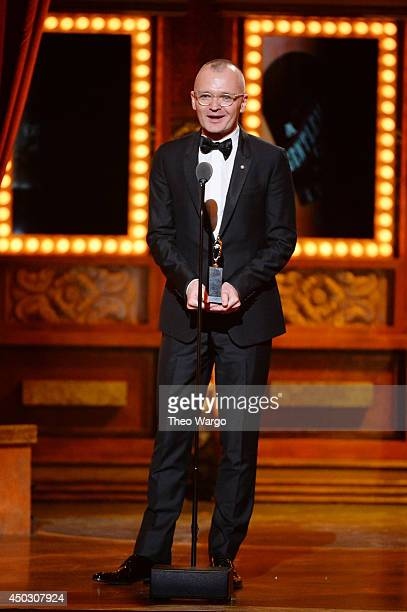 Director and Tony Award winner Darko Tresnjak speaks onstage after winning Tony Award for Best Direction of a Musical for A Gentleman's Guide to Love...