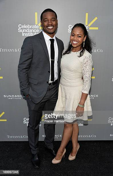 Director and Vanguard Award recipient Ryan Coogler and Zinzi Evans attend the 2013 'Celebrate Sundance Institute' Los Angeles Benefit hosted by...