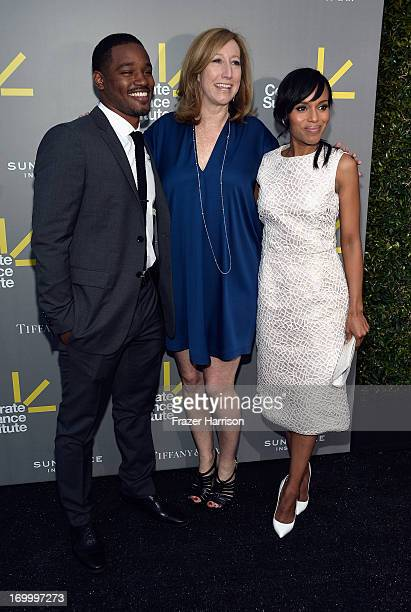 Director and Vanguard Award recipient Ryan Coogler Sundance Institute Executive Director Keri Putnam and actress and Vanguard Award presenter Kerry...