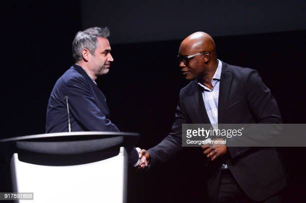 Director and writer Alex Garland and TIFF artistic director Cameron Bailey attend the TIFF special screening of 'Annihilaton' held at TIFF Bell...