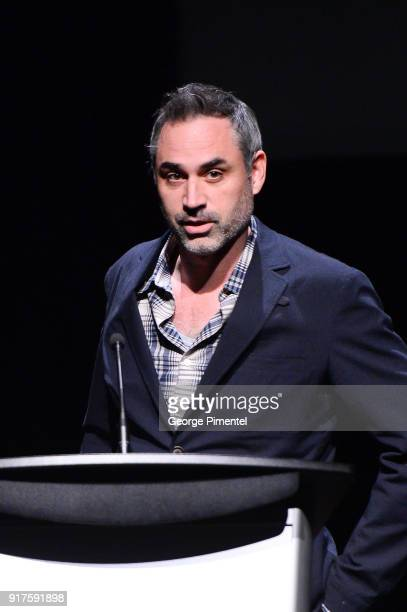 Director and writer Alex Garland attends the TIFF special screening of 'Annihilaton' held at TIFF Bell Lightbox on February 12 2018 in Toronto Ontario