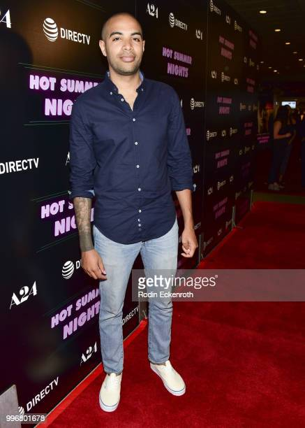 Director and writer Elijah Bynum arrives at the screening of A24's 'Hot Summer Nights' at Pacific Theatres at The Grove on July 11 2018 in Los...