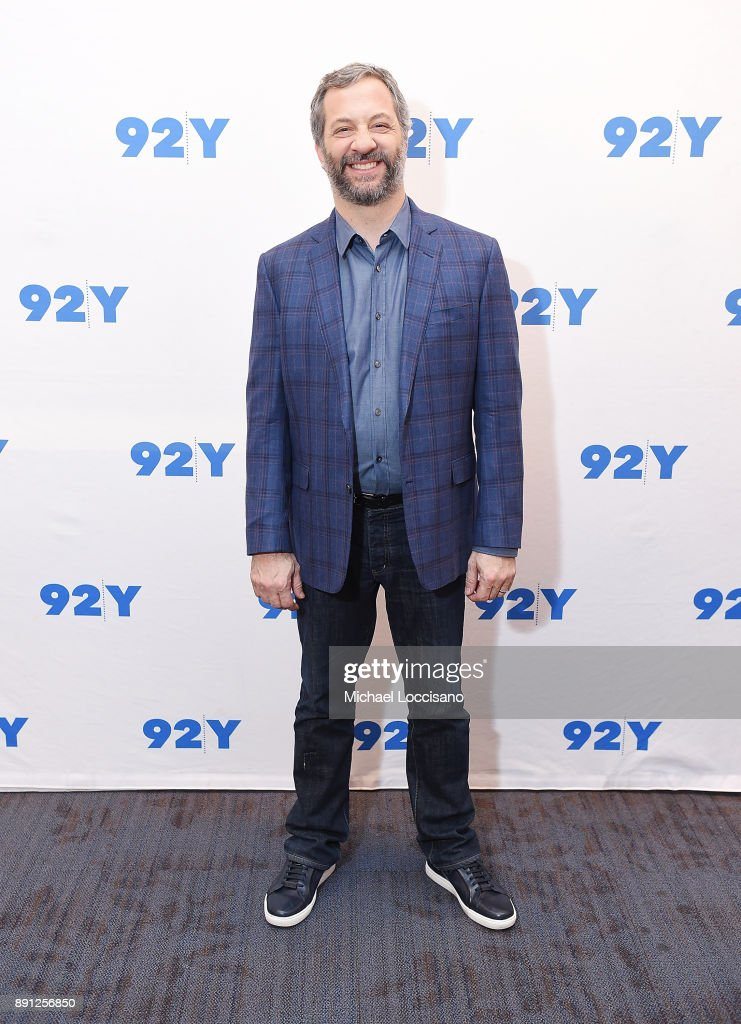 Director and writer Judd Apatow poses before taking part in a 92nd Street Y Talks at 92nd Street Y on December 12, 2017 in New York City.