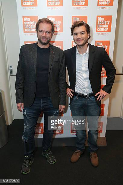 Director Andre Ovredal and Emile Hirsch attend the New York Premiere of The Autopsy Of Jane Doe at The Film Society of Lincoln Center on December 6...