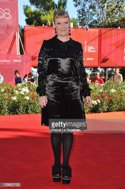 Director Andrea Arnold attends the Wuthering Heights premiere during the 68th Venice Film Festival at Palazzo del Cinema on September 6 2011 in...