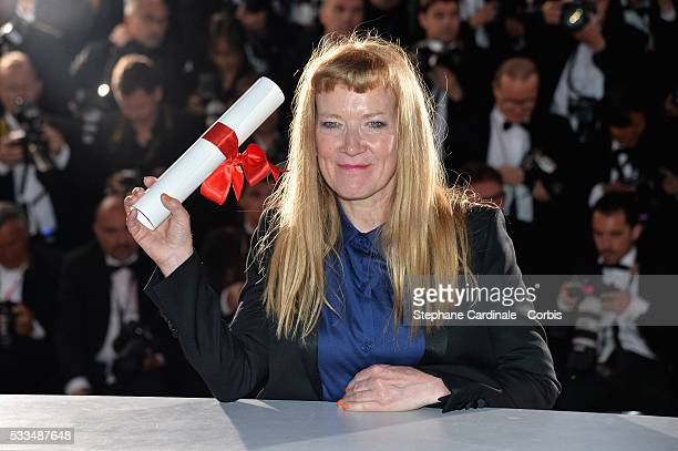 Director Andrea Arnold poses after being awarded the Jury Prize for the movie 'American Honey' during the Palme D'Or Winner Photocall during the 69th...