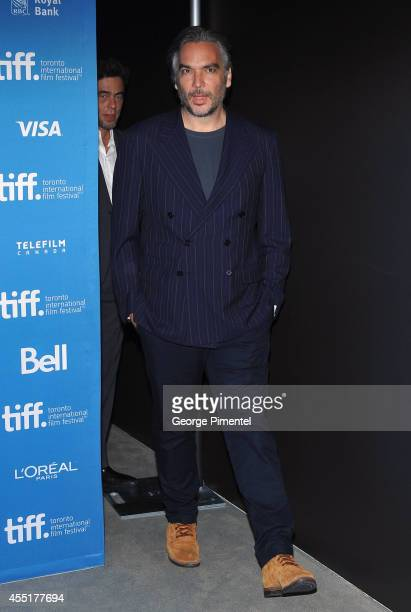 Director Andrea Di Stefano speaks onstage at Escobar Paradise Lost Press Conference during the 2014 Toronto International Film Festival at TIFF Bell...