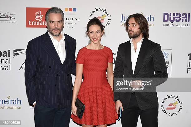 Director Andrea di Stefano with his wife and producer Dimitri Rassam attend the Escobar Paradise Lost premiere during day four of the 11th Annual...
