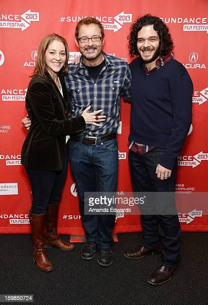 Director Andrea Nix Fine Sundance Film Festival Senior Programmer David Courier and director Sean Fine arrive at the 2013 Sundance Film Festival...