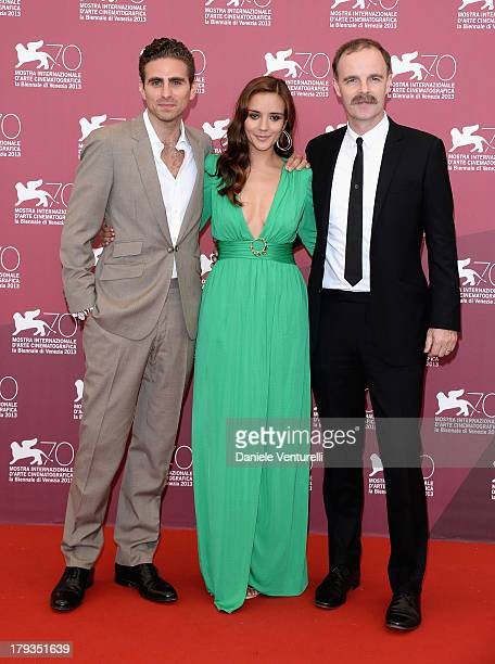 Director Andrea Pallaoro actress Catalina Sandino Moreno and actor Brían F O'Byrne attend 'Medeas' Photocall during the 70th Venice International...