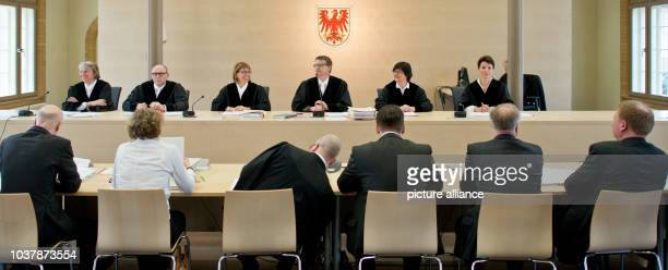 Director Andreas Dresen sits at the constitutional court as lay judge in Potsdam Germany 19 April 2013 Director Dresen is part of a trial for the...