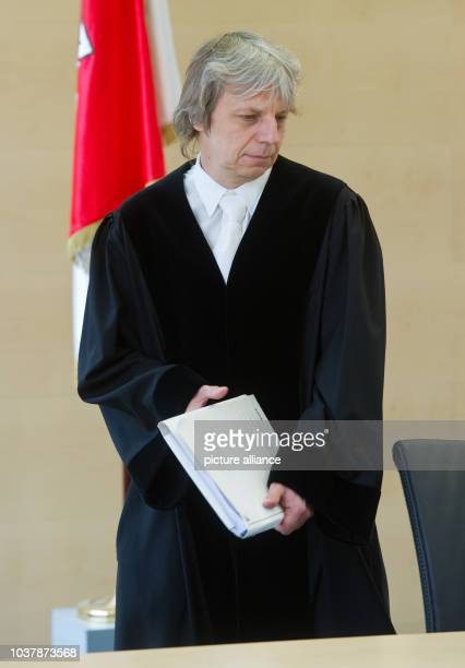 Director Andreas Dresen stands at the constitutional court as lay judge in Potsdam Germany 19 April 2013 Director Dresen is part of a trial for the...