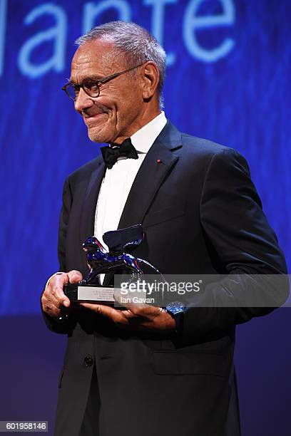 Director Andrei Konchalovsky poses with the Silver Lion for Best Director for 'Paradise' during the closing ceremony of the 73rd Venice Film Festival...