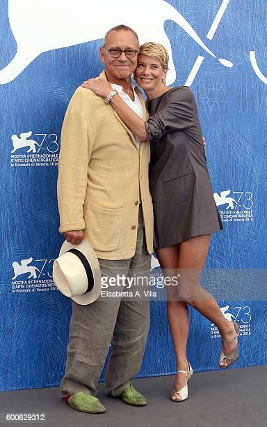 Director Andrej Koncalovskij and actress Julia Vysotskaya attend a photocall for 'Paradise' during the 73rd Venice Film Festival at Palazzo del...