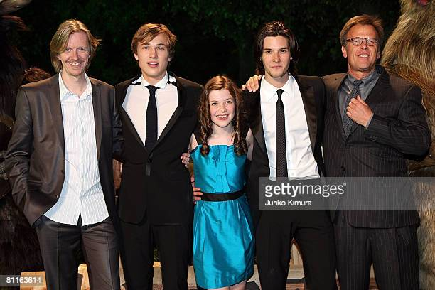 Director Andrew Adamson actors William Moseley Georgie Henley Ben Barnes and producer Mark Johnson attend The Chronicles of Narnia Prince Caspian...