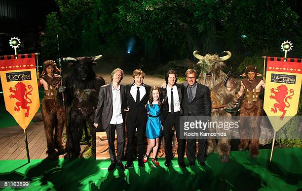 Director Andrew Adamson actors William Moseley Georgie Henley Ben Barnes and producer Mark Johnson attend 'The Chronicles of Narnia Prince Caspian'...
