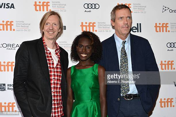Director Andrew Adamson and actors Xzannjah Matsi and Hugh Laurie attend the Mr Pip premiere during the 2012 Toronto International Film Festival at...