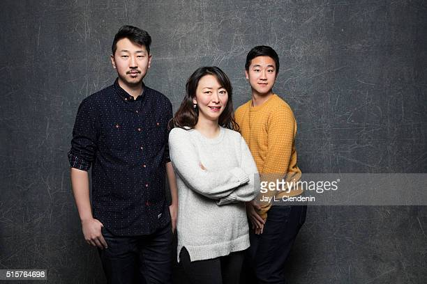 Director Andrew Ahn and lead actor Joe Seo, Haerry Kim, from the film 'Spa Night' pose for a portrait at the 2016 Sundance Film Festival on January...