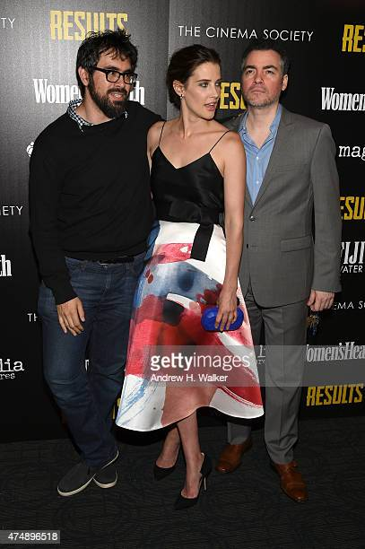 Director Andrew Bujalski Cobie Smulders and Kevin Corrigan attend Magnolia Pictures' Results premiere hosted by The Cinema Society with Women's...