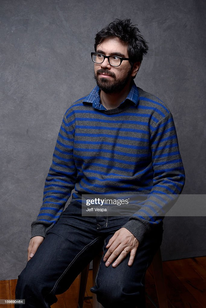 Director Andrew Bujalski poses for a portrait during the 2013 Sundance Film Festival at the WireImage Portrait Studio at Village At The Lift on January 22, 2013 in Park City, Utah.