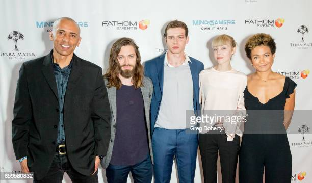 Director Andrew Goth Actors Tom Payne Oliver Stark Antonia CampbellHughes and Producer Anouk Shad arrives for the Fathom Events And Terra Mater Film...