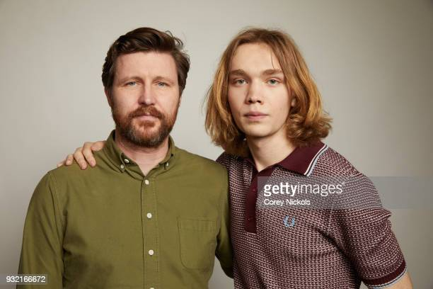 Director Andrew Haigh and Actor Charlie Plummer from the film 'Lean On Pete' poses for a portrait in the Getty Images Portrait Studio Powered by...
