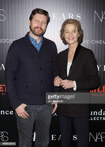 Director Andrew Haigh and actress Charlotte Rampling attend Sundance Selects' 45 Years screening hosted by The Cinema Society with Lillet and NARS at...