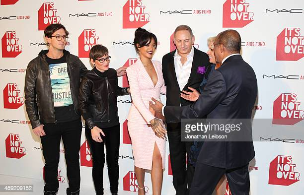 Director Andrew Jenks Global Executive Director of the MAC AIDS Fund Nancy Mahon MAC Viva Glam Spokesperson Rihanna and Chairman of the MAC AIDS Fund...