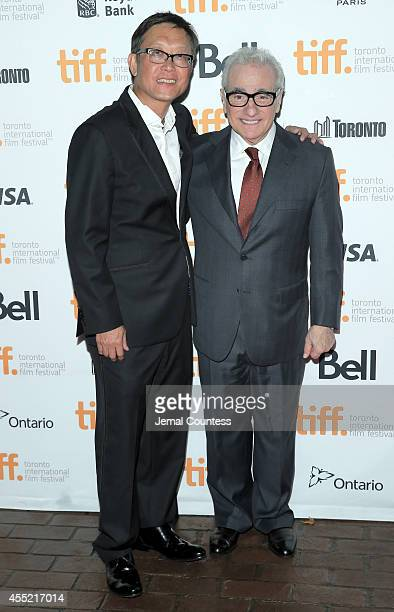 Director Andrew Lau and executive producer Martin Scorsese attend the Revenge Of The Green Dragons premiere during the 2014 Toronto International...