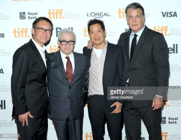 Director Andrew Lau executive producer Martin Scorsese director Andrew Loo and Founder Chief Executive Officer of IM Global and producer Stuart Ford...