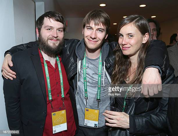 Director Andrew Napier poses with guests at the Producers Reception during the 2013 Tribeca Film Festival April 22 2013 in New York City