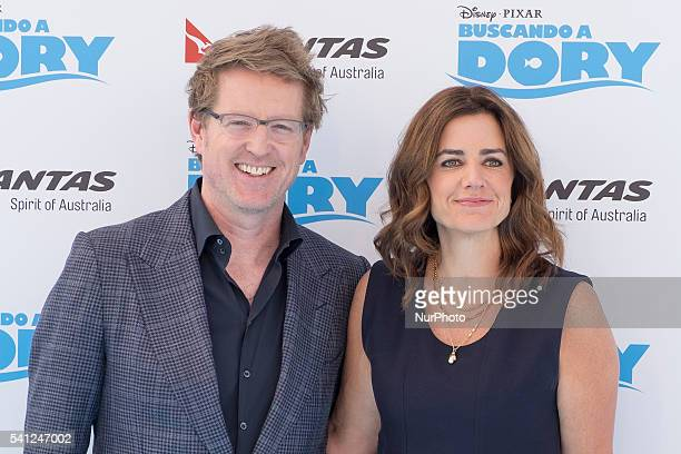 Director Andrew Stanton and producer Lindsey Collins to attend the movie premiere of Disney Pixar quotFinding Doryquot in Madrid Spain on June 19 2016