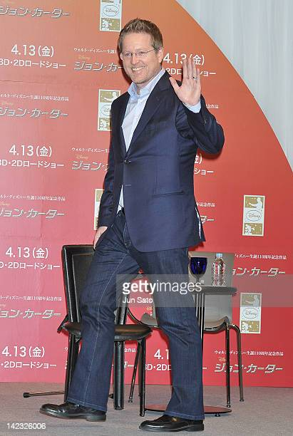 Director Andrew Stanton attends the 'John Carter' Press Conference at the Ritz Carlton Tokyo on April 2 2012 in Tokyo Japan The film will open on...