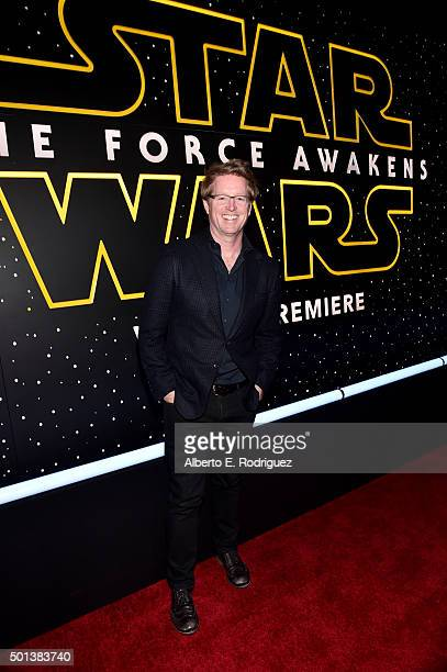 """Director Andrew Stanton attends the World Premiere of """"Star Wars The Force Awakens"""" at the Dolby El Capitan and TCL Theatres on December 14 2015 in..."""