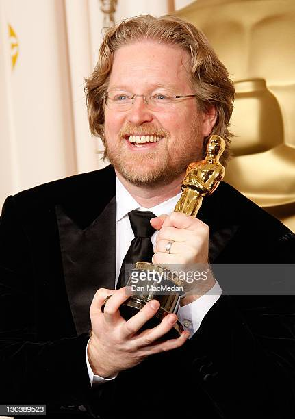 Director Andrew Stanton with his award for Best Animated Feature Film for WallE poses in the press room at the 81st Academy Awards at The Kodak...