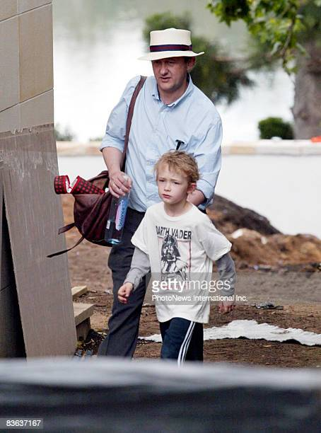 IMAGE* Director Andrew Upton husband of actress Cate Blanchett walks with their son Dashiell John Upton near their Hunter's Hill home on November 8...