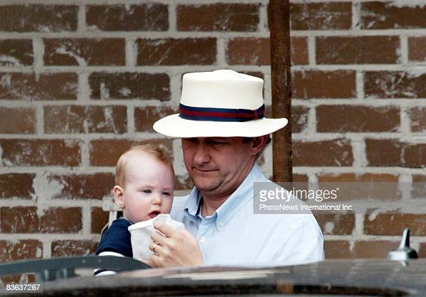IMAGE* Director Andrew Upton husband of actress Cate Blanchett walks with their son Ignatius Martin Upton near their Hunter's Hill home on November 8...