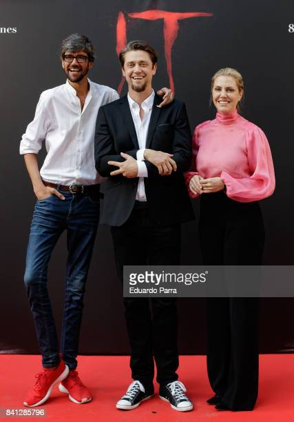 Director Andy Muschietti actor Javier Botet and producer Barbara Muschietti attend the 'IT' premiere at Spanish Cinema Academy on August 31 2017 in...
