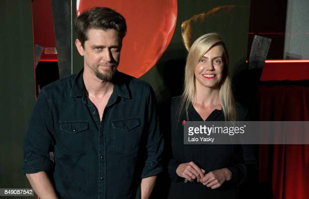 Director Andy Muschietti and producer Barbara Muschietti attend a press conference for 'It' at the Cinemark Palermo on September 18 2017 in Buenos...