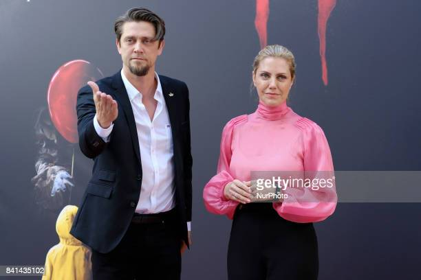 Director Andy Muschietti and producer Barbara Muschietti attend the 'IT' premiere at Spanish Cinema Academy on August 31 2017 in Madrid Spain