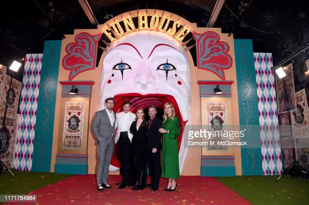 Director Andy Muschietti Bill Skarsgård Jessica Chastain James McAvoy and producer Barbara Muschietti attend the IT Chapter Two European Premiere at...